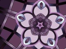 Цветок фрактали Minimalistic, цифровой дизайн искусства Стоковые Фото