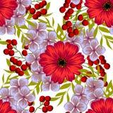 цветок цветения предпосылки цветет белизна неба абстрактная картина элегантности безшовная Стоковые Фото