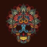 Цветок черепа и лотоса Стоковые Фотографии RF