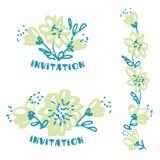 Цветок чертежа от руки в бледном нежном цвете иллюстрация штока