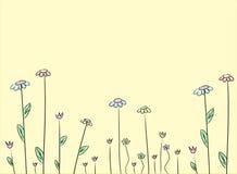 цветок чертежа предпосылки Стоковое Изображение