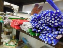 Цветок штанги стекла сплавляя стоковая фотография rf