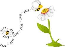 цветок bzzz пчелы Стоковая Фотография RF