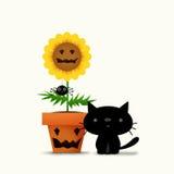 Цветок Halloween Стоковая Фотография