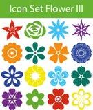 Цветок III значка установленный иллюстрация штока