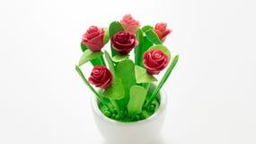 Цветок Plastice розовый стоковое фото