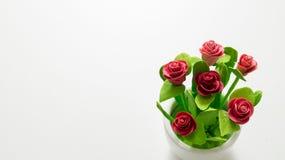 Цветок Plastice розовый стоковые изображения