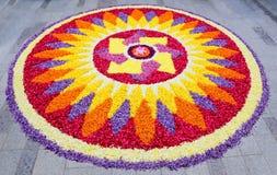 Цветок Rangoli стоковая фотография