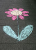 цветок s чертежа ребенка Стоковая Фотография RF