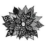 Цветок Zentangle стоковые фотографии rf