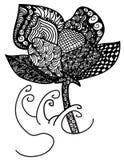 Цветок Zentangle Стоковое Фото