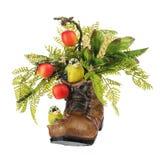 Цветочная композиция сделанная из искусственных цветков и плодоовощей Стоковые Изображения RF