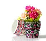 Цветочный горшок мозаики Стоковая Фотография