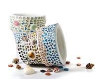 Цветочный горшок мозаики Стоковое Изображение