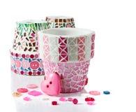 Цветочный горшок мозаики Стоковая Фотография RF