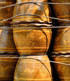 Цветочный горшок сделанный от испеченной глины Стоковое фото RF