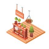 Цветочный магазин вектора равновеликий Стоковое Изображение RF