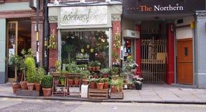 Цветочный магазин в северном квартале, Манчестер, Англия Стоковая Фотография RF