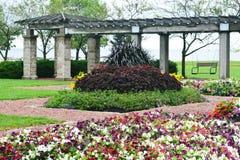 Цветочный сад, парк Eichelman, Kenosha, Висконсин Стоковое Изображение RF