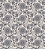 цветочный узор безшовного вектора винтажный арабский дизайн для woodblock, упаковывая, печать безшовный шаблон в панели образца иллюстрация штока