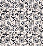 Цветочный узор безшовного вектора винтажный арабский дизайн для woodblock, упаковывая, печать безшовный шаблон в панели образца иллюстрация вектора