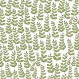 Цветочный узор вектора безшовный с ветвью и лист Стоковые Фото