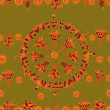 Цветочный узор 4 вектора безшовный Стоковое Изображение