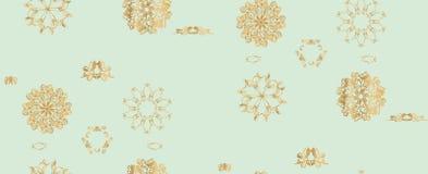 Цветочный узор вектора безшовный Monochrome Текстура, декоративные цветки Стоковые Изображения RF