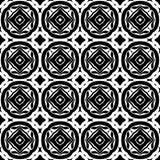 Цветочный узор вектора винтажный безшовный черно-белый Стоковое Фото