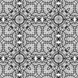 Цветочный узор вектора винтажный безшовный черно-белый Стоковые Изображения