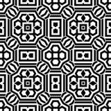 Цветочный узор вектора винтажный безшовный черно-белый Стоковое Изображение RF