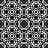 Цветочный узор вектора винтажный безшовный черно-белый Стоковая Фотография RF