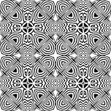 Цветочный узор вектора винтажный безшовный черно-белый Стоковые Фото