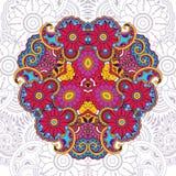 Цветочный узор вектора в стиле doodle с цветками Стоковые Фотографии RF