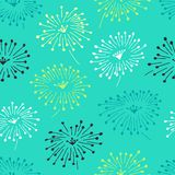 Цветочный узор декоративной стильной весны безшовный с ходами Яркая бесконечная текстура с цветками и лепестками Стоковое Изображение RF