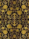 Цветочный узор золота Стоковое Изображение RF