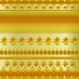Цветочный узор золота Стоковая Фотография
