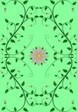 Цветочный узор красивого искусства безшовный бесплатная иллюстрация