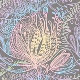 Цветочный узор нарисованный рукой Стоковая Фотография