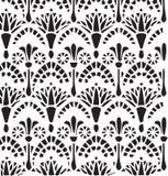 Цветочный узор орнамента вектора винтажный египетский Стоковое Фото