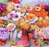 Цветочный узор Пейсли в русском стиле Медальон с красными маком и светом - голубыми цветками Дизайн зимы Стоковые Изображения RF