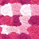Цветочный узор предпосылки с розами Стоковая Фотография