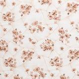Цветочный узор, предпосылка цветка на ткани Стоковые Фотографии RF