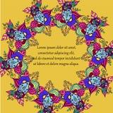 Цветочный узор предпосылки круглый Стоковая Фотография