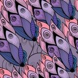 Цветочный узор стиля, пинк и голубые colos бесплатная иллюстрация