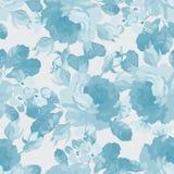 Цветочный узор с голубыми розами Стоковые Изображения
