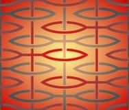 Цветочный узор сделанный из стилизованных листьев Стоковое Изображение