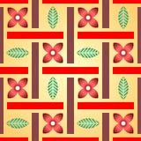 Цветочный узор сделанный из цветков и листьев Стоковая Фотография