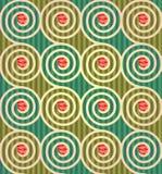 Цветочный узор сделанный цветков и спиралей Стоковые Изображения RF