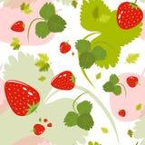 Цветочный узор с листьями и ягодами Стоковые Фото